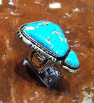 RINGS SILVER TURQUOISE Shelly Mixer