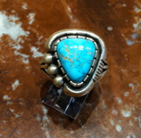 RINGS NAVAJO SILVER TURQUOISE WCV SOLD