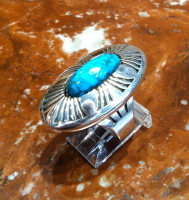 RINGS NAVAJO SILVER TURQUOISE Marco Begay