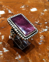 RINGS NAVAJO SILVER PURPLE RARE SPINY OYSTER SHELL Albert Lee