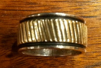 RINGS NAVAJO SILVER GOLD BAND AL-PL