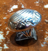 RINGS NAVAJO SILVER STAMPED DOMED Orville Tsinnie