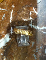 RINGS ISLETA GOLD TWIST BAND GREEK KEY DESIGN Andy Kirk