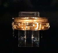 RINGS ISLETA GOLD BAND GREEK KEY DESIGN Andy Kirk