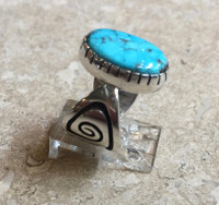 RINGS HOPI SILVER MORENCI TURQUOISE Mitchelle Sockyma SOLD