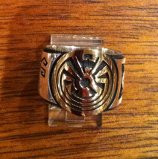 RINGS HOPI SILVER GOLD OVERLAY MAN IN MAZE KOKOPELLI BADGER BEARPAW Art Batala SOLD