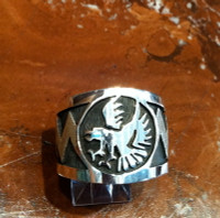 RINGS HOPI SILVER EAGLE RHSE2 SOLD