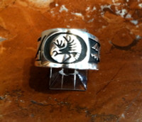 RINGS HOPI SILVER EAGLE SOLD