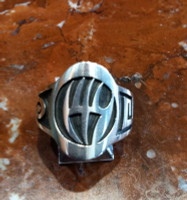 RINGS HOPI SILVER BADGER PAW SOLD