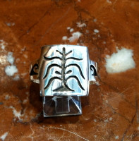 RINGS HOPI SILVER CORN