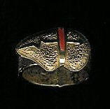 RINGS HOPI 18KT GOLD & CORAL Don Supplee