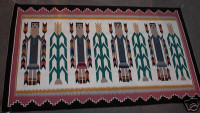 Navajo Indian Rug Yei Virginia Poyer