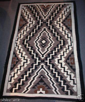 Navajo Indian Rug Eye Dazzler 1930's
