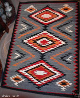 Navajo Indian Rug Eye Dazzler RG12