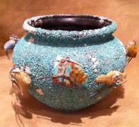 Pottery Zuni Turquoise Chip Zuni Fetish Bowl Lena Boone PZTCFB2