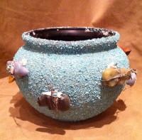 Pottery Zuni Turquoise Chip Zuni Fetish Bowl Lena Boone