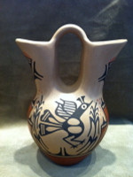 Pottery Zia Ruby Panana Wedding Vase SOLD