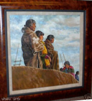 "PAINTING IRVING TODDY ""KIVA SCENE"""