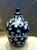 Pottery Santo Domingo Lidded Pot Spiritual Urn Thomas Tenorio