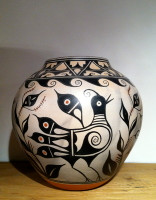 Pottery Santo Domingo Quail Bird Pot Thomas Tenorio Sold