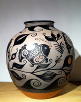 Pottery Santo Domingo Kewa Fish Pot Thomas Tenerio SOLD