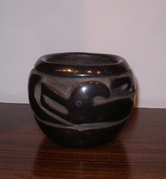 Pottery Santa Clara Margaret Tafoya Black Carved Pottery PSCMT5