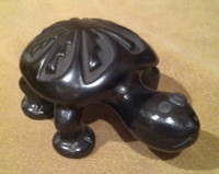 Pottery Santa Clara Black Carved Turtle Mary Singer PSCBCTMS3