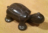 Pottery Santa Clara Black Carved Turtle Mary Singer