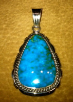 PENDANTS NAVAJO SILVER TURQUOISE Eugene Belone SOLD