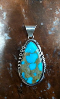 PENDANTS NAVAJO SILVER TURQUOISE Alfred Martinez SOLD