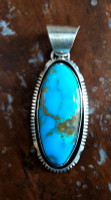 PENDANTS NAVAJO SILVER TURQUOISE Augustine Largo SOLD