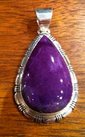 PENDANTS NAVAJO SUGILITE & SILVER G Spencer SOLD