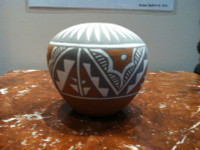 Pottery Jemez San Felipe Polychrome Small Seed Pot Mary Small