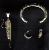PENDANTS*HOPI*GOLD*CORN*DON SUPPLEE