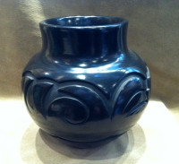 Pottery Santa Clara Black Carved Sherry Tafoya SOLD