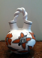 Pottery Acoma Wedding Vase Michelle Shields PAWVMS3 SOLD