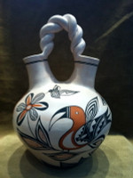 Pottery Acoma Wedding Vase Bird Hummingbird Michelle Shields SOLD