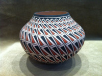 Pottery Acoma Black Orange and Blush Polychrome Paula Estevan_2 SOLD