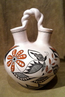Pottery Acoma Wedding Vase Michelle Shields PAMS4 SOLD