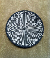 Pottery Acoma Jessie Garcia Fine Line Plate SOLD
