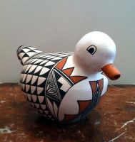 Pottery Acoma Duck Michelle Shields