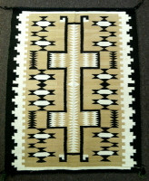 Navajo Rug Indian Made Storm Pattern Weaving Molly Udly