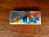 Navajo Multi-Stone Inlay Money Clip E. David SOLD
