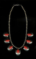 NECKLACES NAVAJO GOLD CORAL Al Nez NKGC2 SOLD