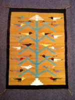 Navajo Indian Rug Tree Of Life 1950's