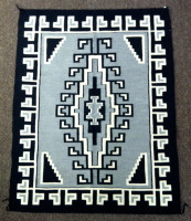 Navajo Indian Rug Two Grey Hills Weaving Ruby Payer