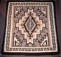 Navajo Indian Rug Two Grey Hills 2