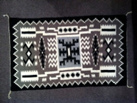 Navajo Indian Rug Storm Weaving 1960's