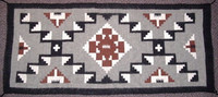 Navajo Indian Rug Storm Pattern Runner SOLD