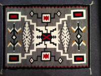Navajo Indian Rug Storm Pattern Weaving1960's